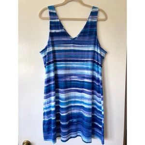 Ralph Lauren Watercolor Blue Cover-up Dress
